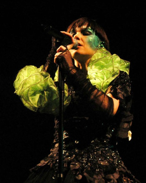 BJORK performs September 9, 2003 on Olympic Island in Canada.