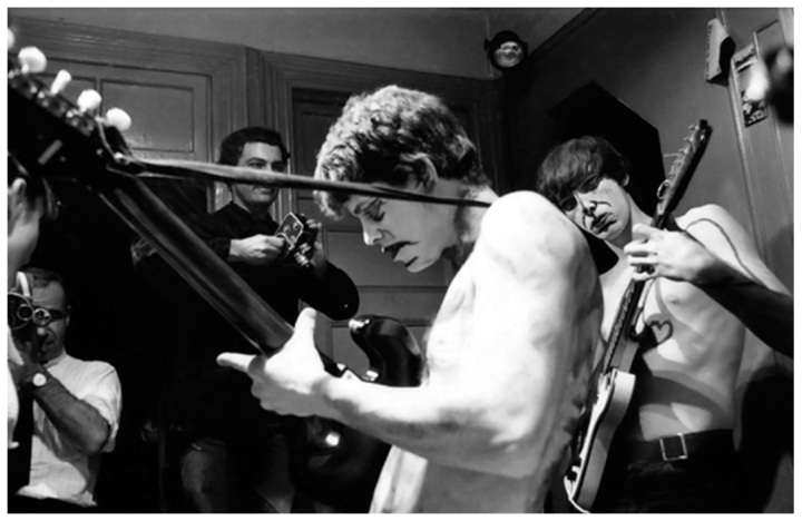 Lou Reed and Sterling Morrison of The Velvet Underground at Piero Heliczer's apartment on Grand Street in NYC - 1965.jpg
