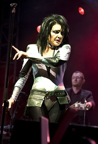 British Punk legend Siouxsie performs in the JJB Arena at the V Festival at Weston Park in Staffordshire, UK on Sunday the 17th of August 2008. No Restrictions